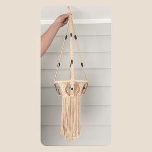 Vintage Crochet Plant Hanger Boho Style